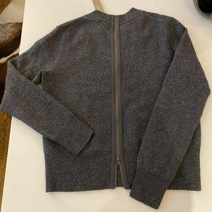 J Crew Merino Wool Sweater w Zipper Back Detail XS